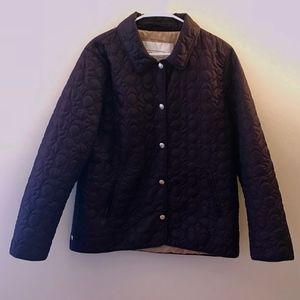 Coach Quilted Logo Jacket in Plum